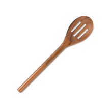 Load image into Gallery viewer, Acacia Wood Slotted Serving Spoon