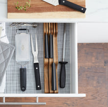 Load image into Gallery viewer, Acacia Wood In-Drawer Knife Block