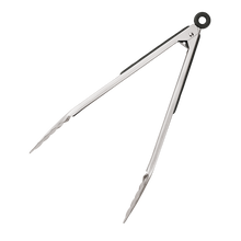 "Load image into Gallery viewer, 12"" Stainless Steel Tongs"