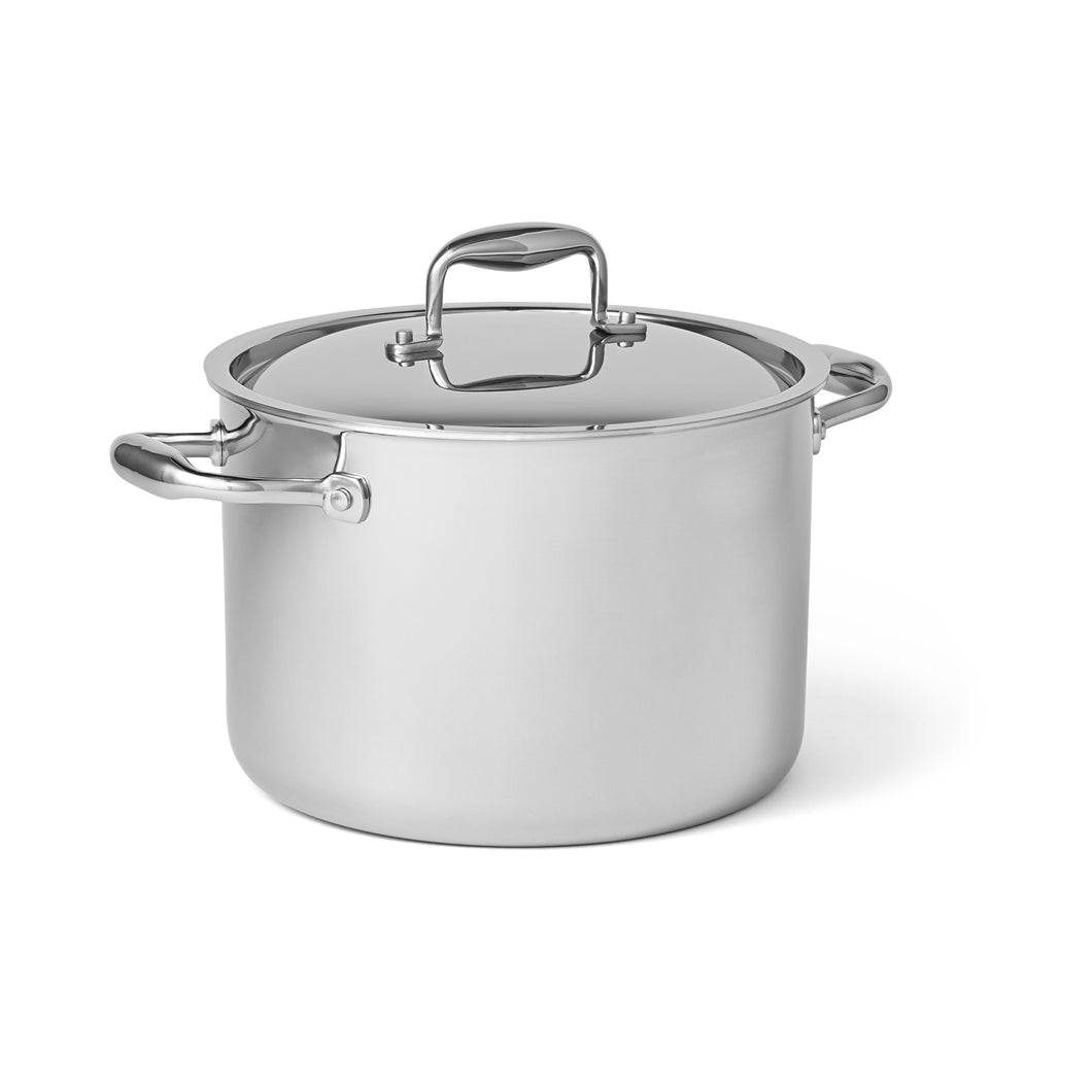 8 Quart Stainless Steel Stock Pot with Lid