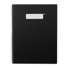 Load image into Gallery viewer, Hardcover Spiral Notebook FSC® Certified Paper - Black