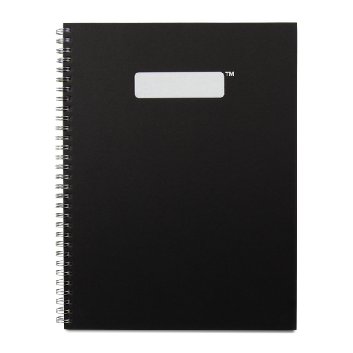 Hardcover Spiral Notebook FSC® Certified Paper - Black