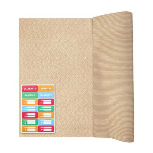 Gift Wrap & Sticker Sheet Set