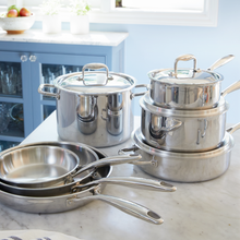 Load image into Gallery viewer, 4 Quart Stainless Steel Saute Pan with Lid