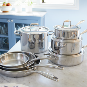 4 Quart Stainless Steel Saute Pan with Lid