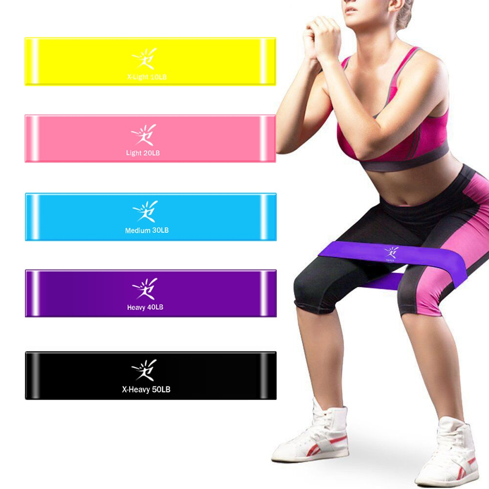 5 Colors - Resistance Loop Bands Fitness- Exercise Bands
