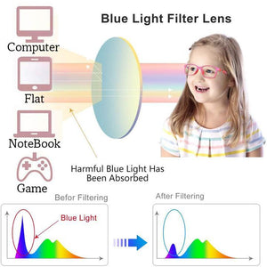 Blue Light Blocking Computer and Gaming Glasses For Kids and Adults