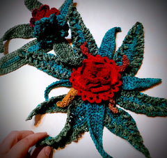 Hand Crocheted Floral Arrangement by E. Dayan, 2020
