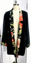 Load image into Gallery viewer, Handmade Black Linen Jacket (One of a Kind)