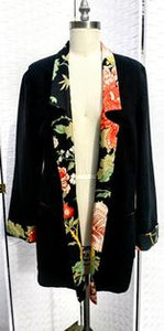 Handmade Black Linen Jacket (One of a Kind)