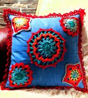Crochet Applique Pillow Project Intro