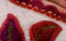 Load image into Gallery viewer, Close up of hand crocheted trim