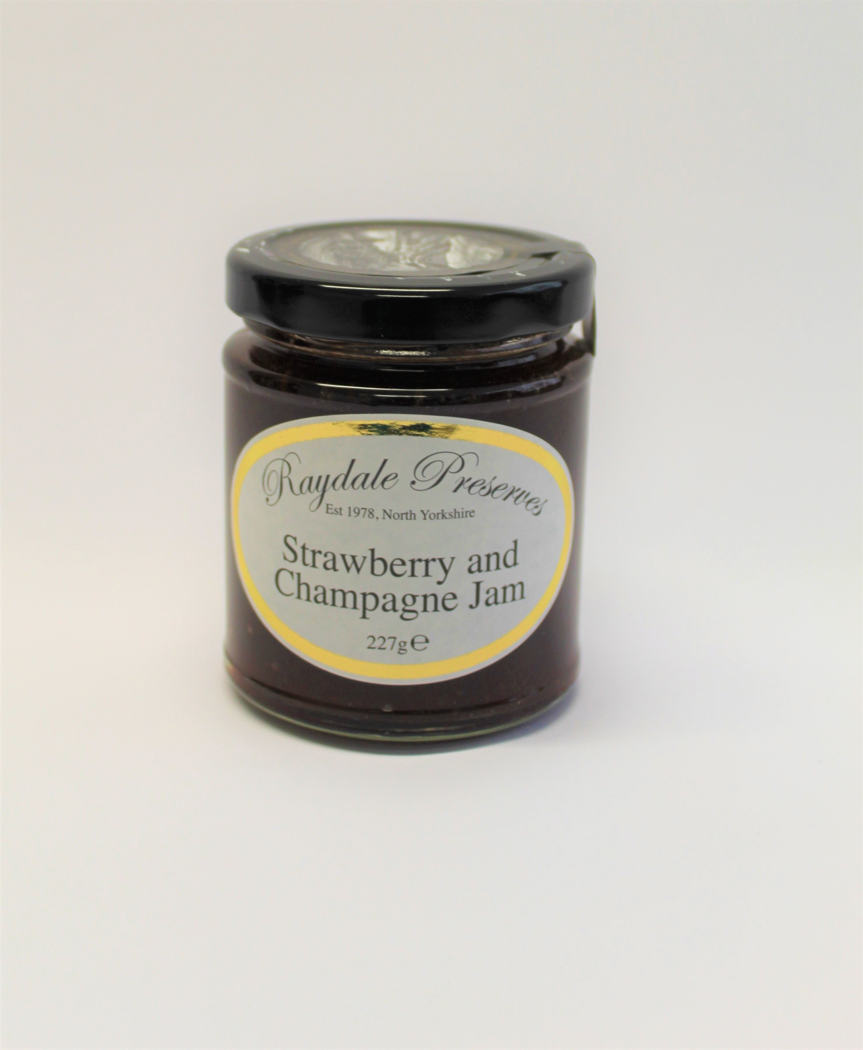 Stawberry and Champayne Jam, deliciously Yorkshire Strawberries combined with a generous sparkle of of Champayne