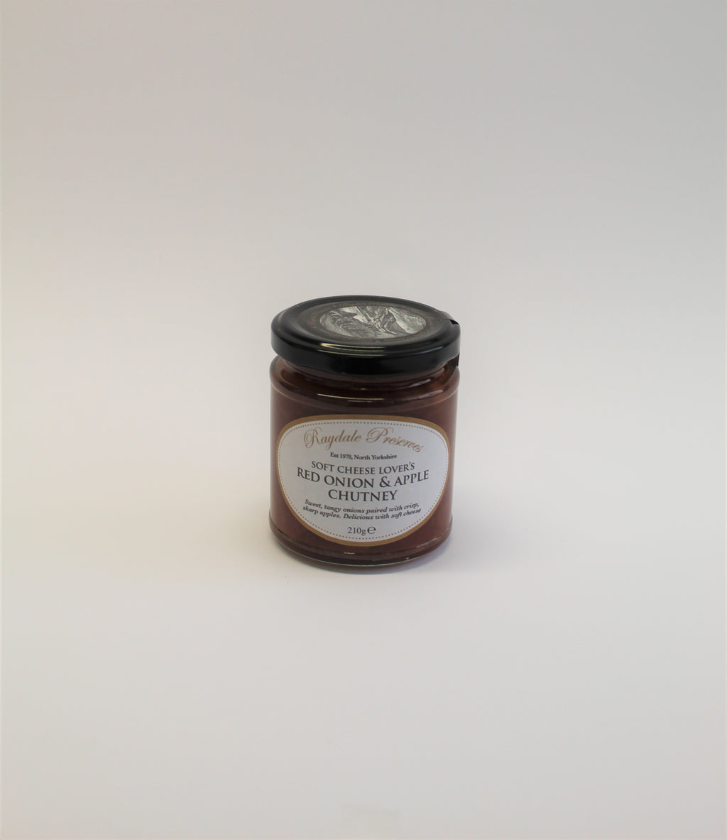 Soft cheese lover's red onion & apple chutney