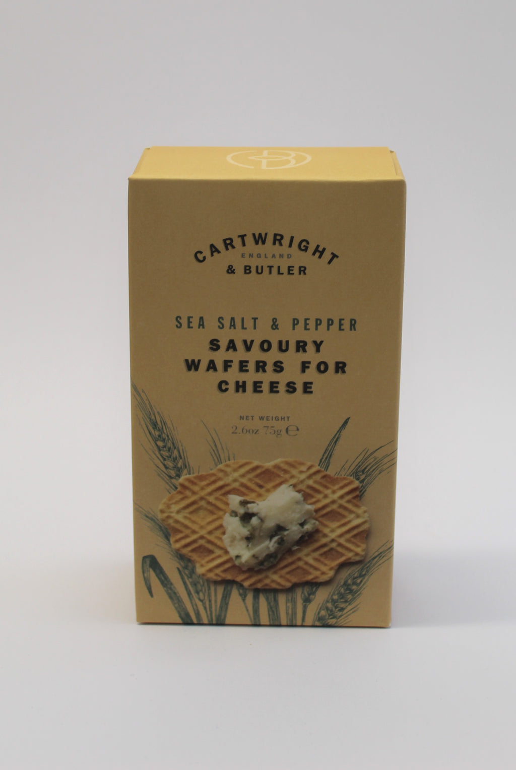 Sea salt & pepper savoury wafers for cheese