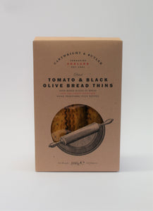 Tomato & black olive bread thins (100g)