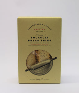 Rosemary focaccia bread thins (100g)