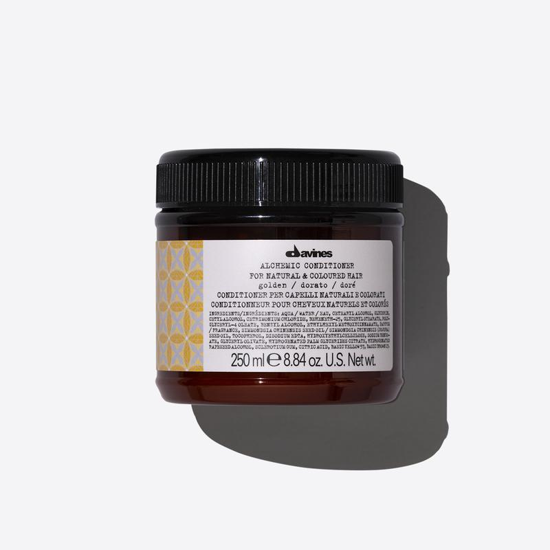 Davines Alchemic Golden Conditioner | 250ml available online at Little Hair Co