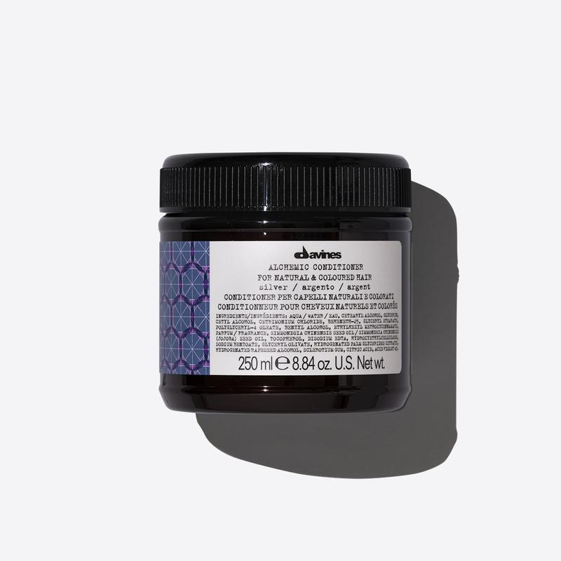 Davines Alchemic Silver Conditioner | 250ml available online at Little Hair Co