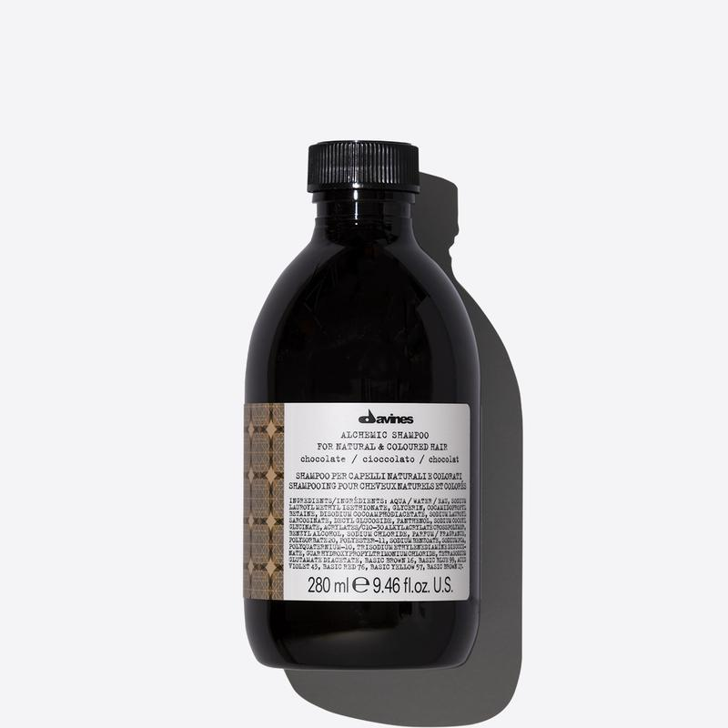 Davines Alchemic Chocolate Shampoo | 280ml available online at Little Hair Co