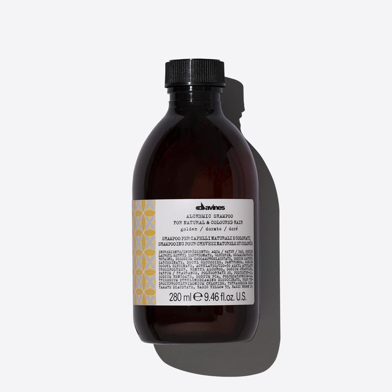 Davines Alchemic Golden Shampoo | 280ml available online at Little Hair Co