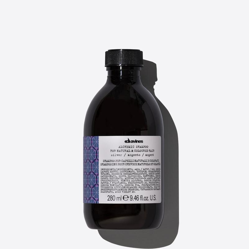 Davines Alchemic Silver Shampoo | 280ml available online at Little Hair Co