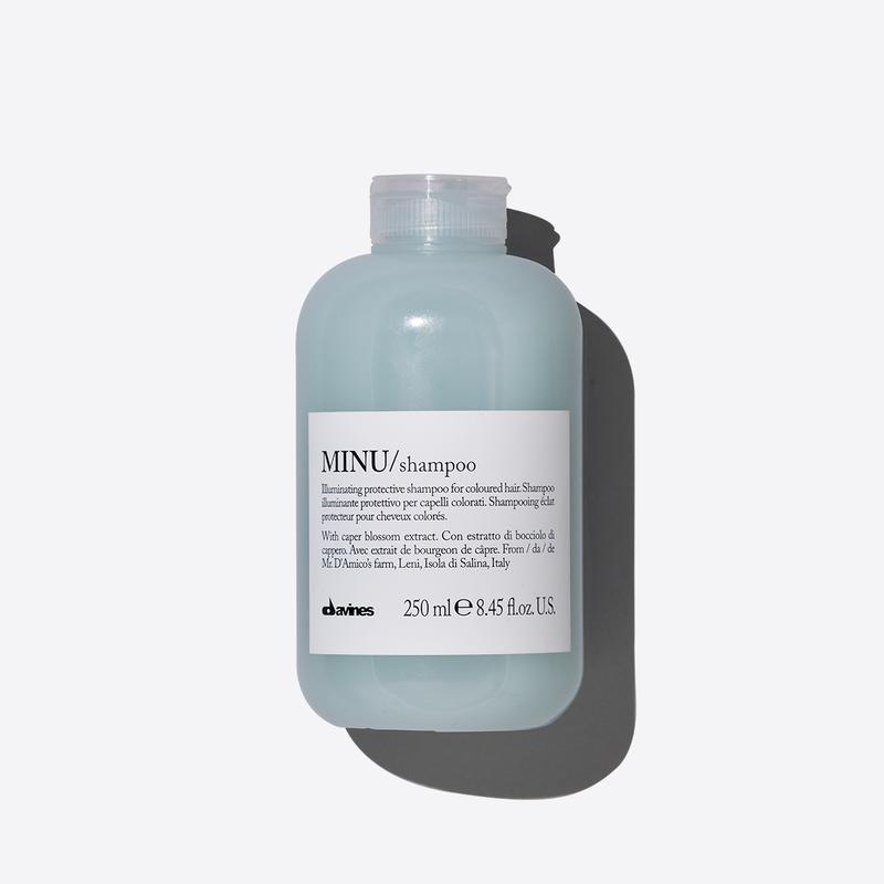 Davines Essentials Minu Shampoo | 250ml available online at Little Hair Co