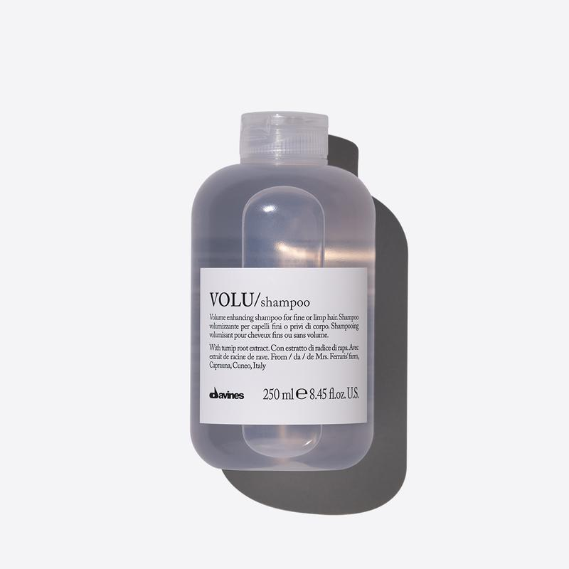 Davines Essentials Volu Shampoo | 250ml available online at Little Hair Co