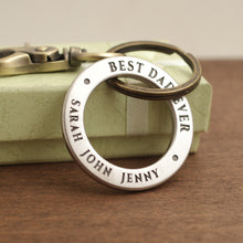 Load image into Gallery viewer, Best dad ever - keychain ring