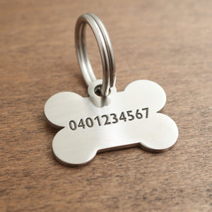 Dog ID Tag with deep engraving