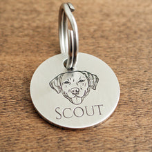 "Load image into Gallery viewer, Round Dog ID Tags ""Scout"""