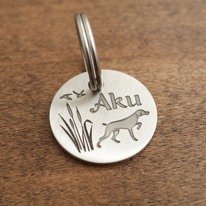 "Round Dog ID Tags ""Hunter"""