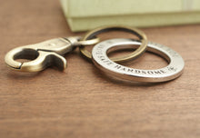Load image into Gallery viewer, Best dad ever keychain ring