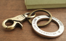 Load image into Gallery viewer, Drive Safe Keychain ring