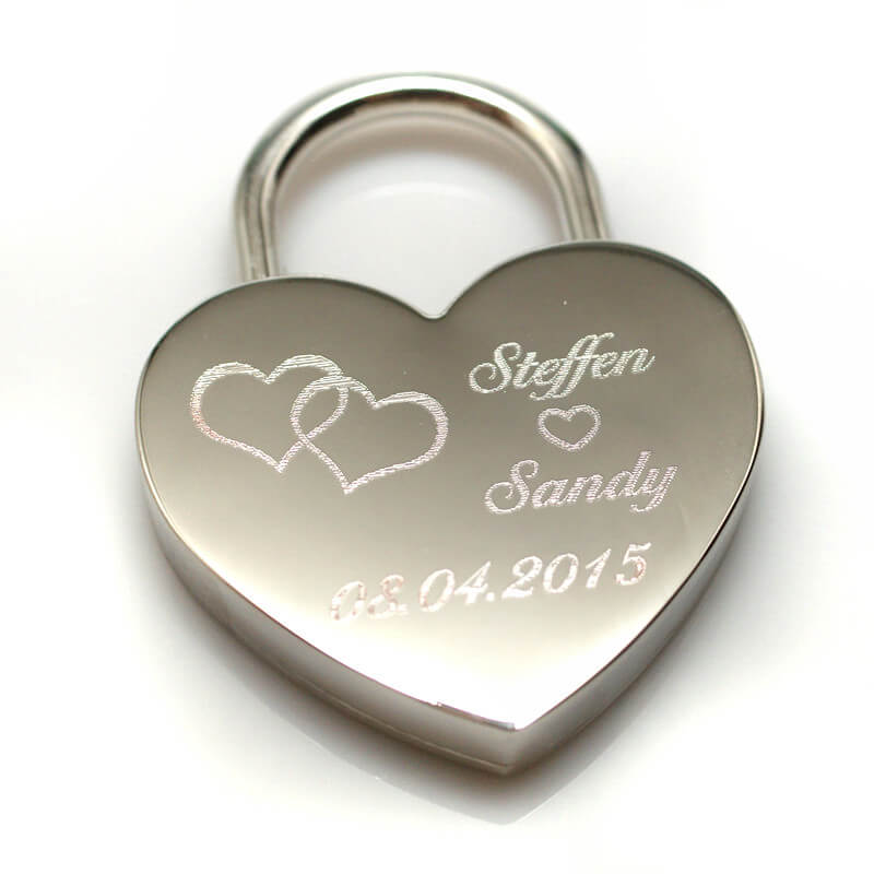 Engraved love padlock