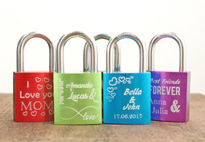 Engraved love padlock VI