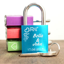 Load image into Gallery viewer, Engraved love padlock VI