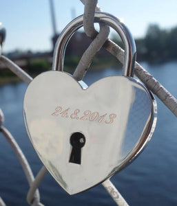 Engraved love lock