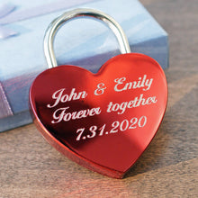 Load image into Gallery viewer, Engraved love padlock IV