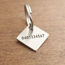 Load image into Gallery viewer, Square Dog ID Tag-02