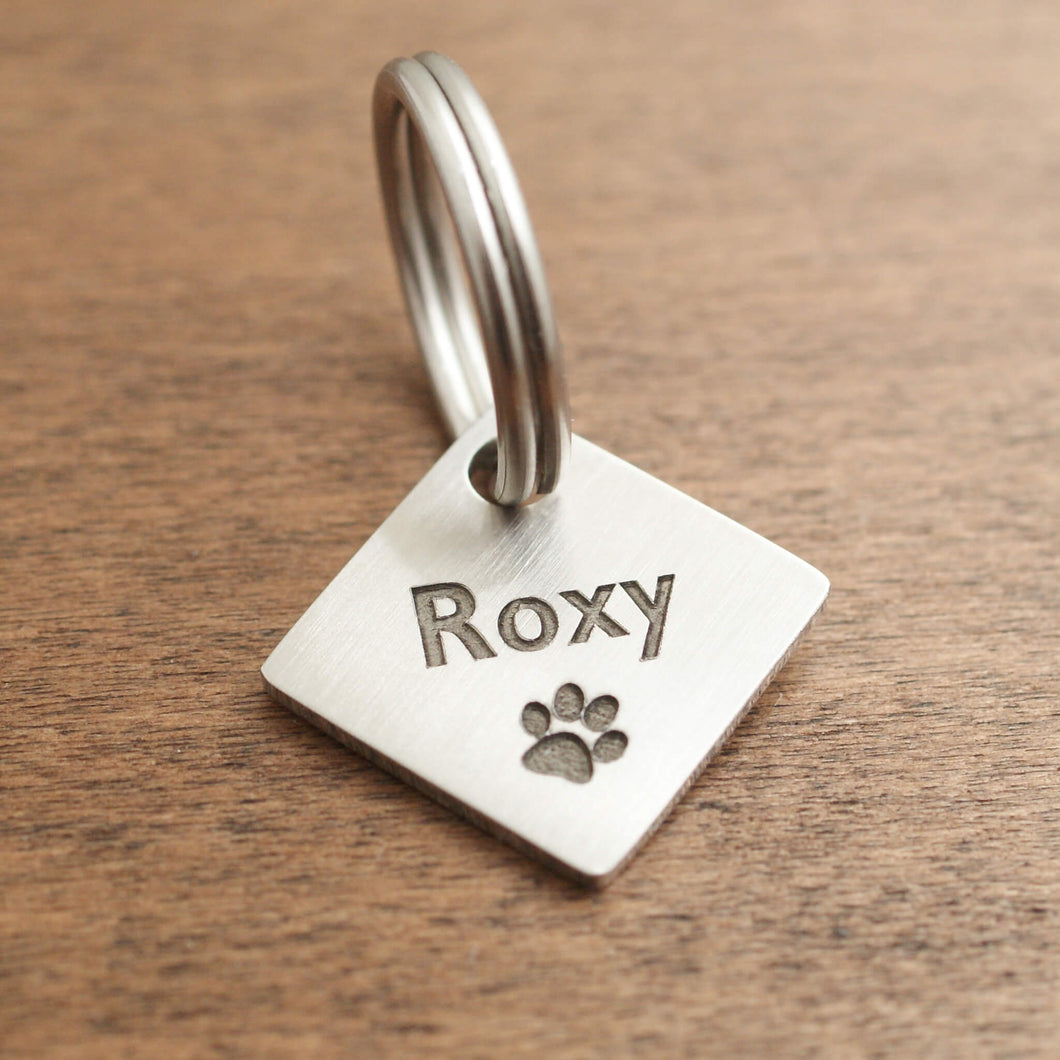 Square Dog ID Tag