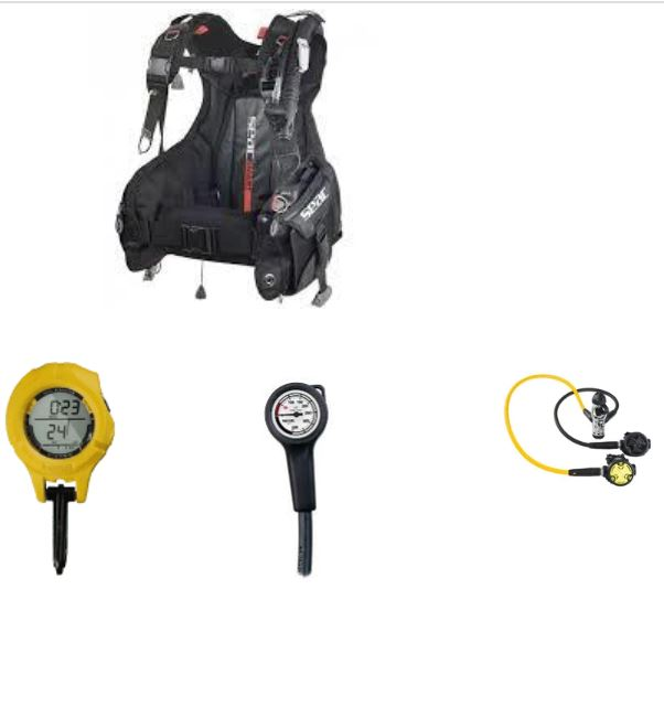 Seacsub Super Deal Scuba Pack with computer.