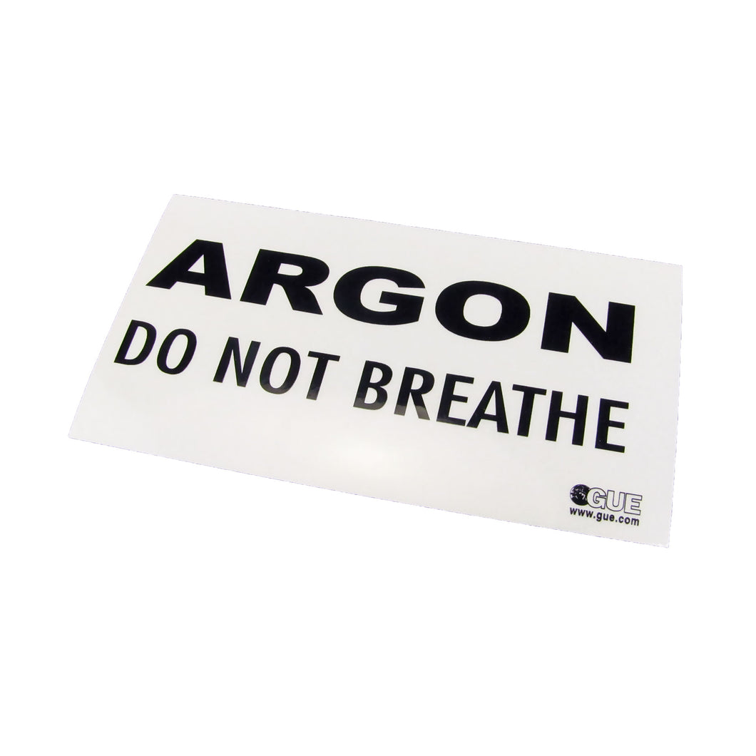 Halcyon Argon Warning Decal
