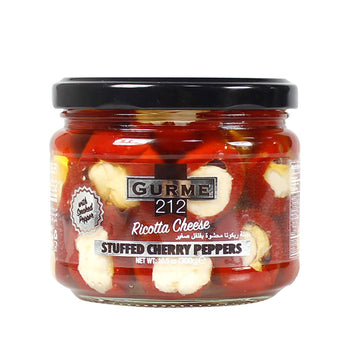 Gurme 212 Ricotta Cheese Stuffed Cherry Peppers With Smoked Pepper 300gr