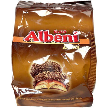 Ulker Albeni Bites Chocolate Coated Caramel Biscuits