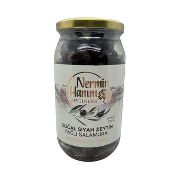 Nermin Hanim Natural Black Olives 650gr