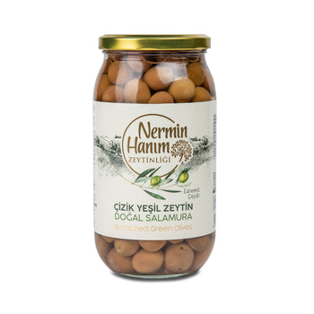Nermin Hanim Scratched Green Olives 650gr
