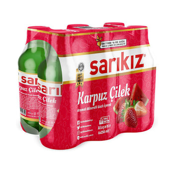 Sarikiz Watermelon & Strawberry 250ml 6 Pack
