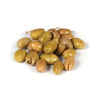 Nermin Hanim Cracked Green Olives 1lb