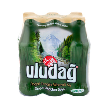 Uludag Natural Mineral Water 6x200 Ml